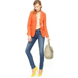 J. Crew Hacking Jacket Blazer Orange Herringbone